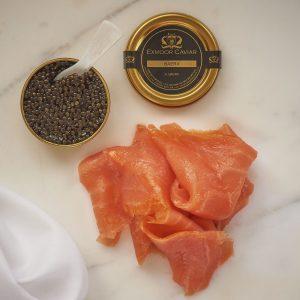 The Regency - caviar with sliced smoked salmon